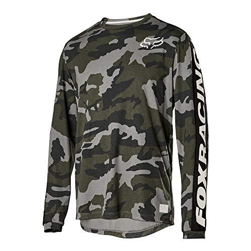 Fox Racing Ranger Dri-Release Fox Long-Sleeve Jersey - Men's Green Camo, M
