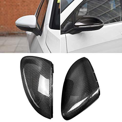 JIAHONG Coche de ángulo muerto del espejo de coche de fibra de carbono espejo retrovisor Conchas hebilla lateral del ala del casquillo cubierta del espejo FOR For Volkswagen Golf 7 / GTI / Lamando (2