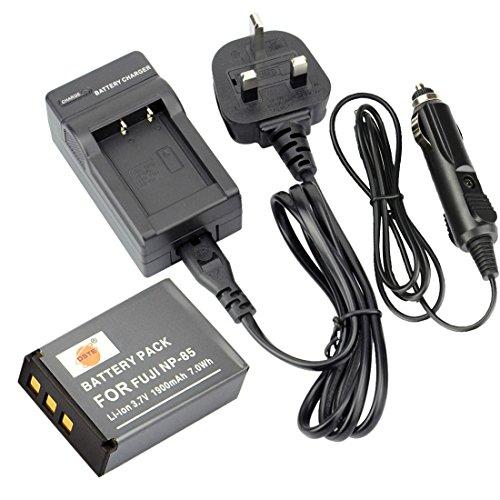 DSTE DC122U EU-Stecker Ladegerät + NP-85 Li-Ionen Akku für Fujifilm FinePix SL1000 SL240 SL260 SL280 SL300 SL305 SLR Kameras