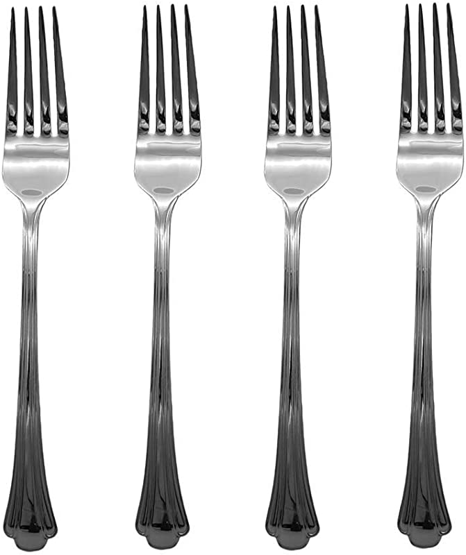Gorham Nouveau 18 8 Stainless Steel 8 Dinner Fork Set Of Four