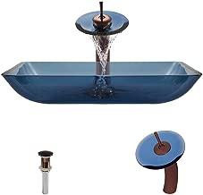 640 Aqua Vessel Sink, Oil Rubbed Bronze, Waterfall Faucet