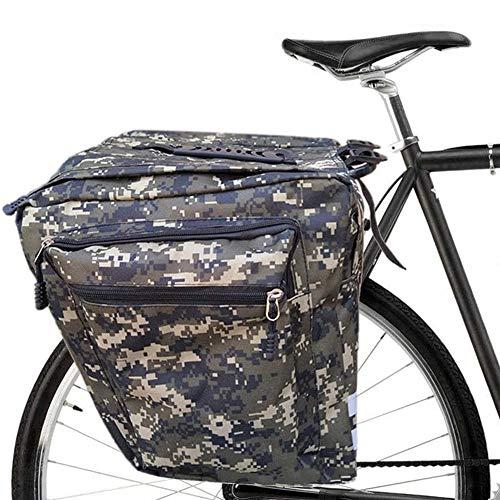 Tamkyo Bolsas para Bicicletas Portaequipajes, 30L Bolsas para Equipaje para Bicicleta, Bolsa Doble Impermeable para Bicicleta, Bolsa para Bicicleta, Camuflaje