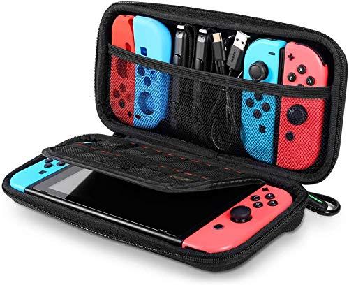 UGREEN-hoes voor Nintendo Switch Schokbestendig draagtas Verbeterde versie met grotere opslagruimte voor 9 spellen, Joy Con, officiële netadapter, USB-kabel en andere accessoires