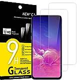 NEW'C 2 Unidades, Protector de Pantalla para Samsung Galaxy S10e, Antiarañazos, Antihuellas, Sin Burbujas, Dureza 9H, 0.33 mm Ultra Transparente, Vidrio Templado Ultra Resistente