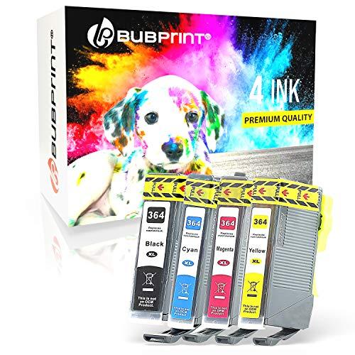 4 Bubprint Druckerpatronen kompatibel für HP 364 XL 364XL für DeskJet 3070A 3520 OfficeJet 4620 4622 PhotoSmart 5510 5520 5524 6510 6520 7510 7520 B109-a B110 B110a C310a Schwarz