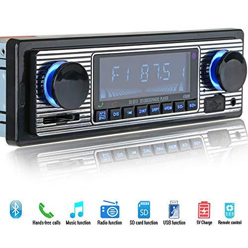 CPDZ Auto MP3-Player FM-Modulator Bluetooth LCD-Display Musik Retro Audio USB Stereo Lossless Music Radio Zusatzfunktion Freisprech AUX 12V