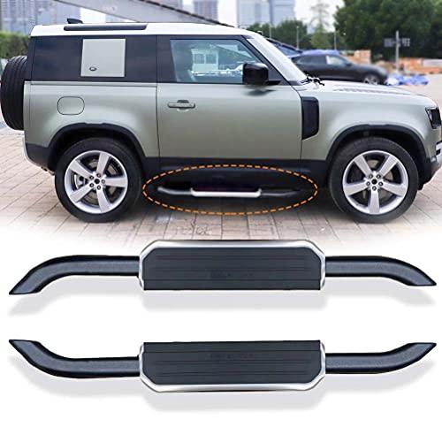 2 pezzi in lega di alluminio pedane laterali pedali bar adatto per Land Rover Defender 90 2020 2021 2022