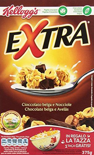 Kellogg's - Extra, Cioccolato Belga e Nocciole, 375 g