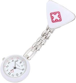 NICERIO Creative Triangle Nurse Hanging Watch Medical Nurse Pocket Watch Gift Watch (White)