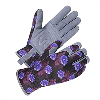 SKYDEER Womens Garden Gloves with Deerskin Leather Suede (SD6613)