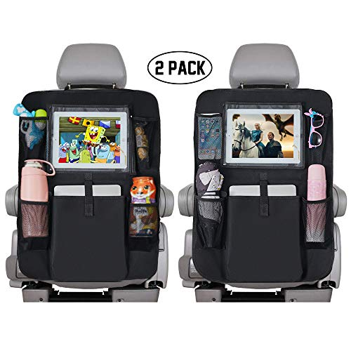 Backseat Car Organizer for Kids, Kick Mats Cover Car seat Protector with Touch Screen 10