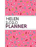 Helen: : 2020 Personalized Planner: One page per week: Pink sprinkle design