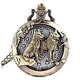 Orologio da taschino 1pc Unisex tasca orologio da tasca analogico con catena quadrante bianco nero arabo numeri steampunk tasca orologi da tasca regali bronzo