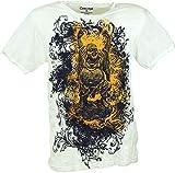 GURU SHOP Pure T-Shirt Lucky, Herren, Weiß, Baumwolle, Size:L, Bedrucktes Shirt Alternative Bekleidung