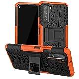 ftrongrt cover per asus rog phone 5s, protezione robusta, armatura sottile hybrid dual layer armor soft tpu bumper pc rigida protettiva case -arancione