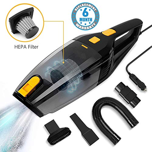 Voroly High Power 3500PA 120W 12V Auto Vacuum Cleaner for Car Portable Wet Dry Vacuum Cleaner for...