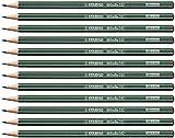 Crayon graphite - STABILO Othello - Lot de 12 crayons graphite 2B avec tête trempée