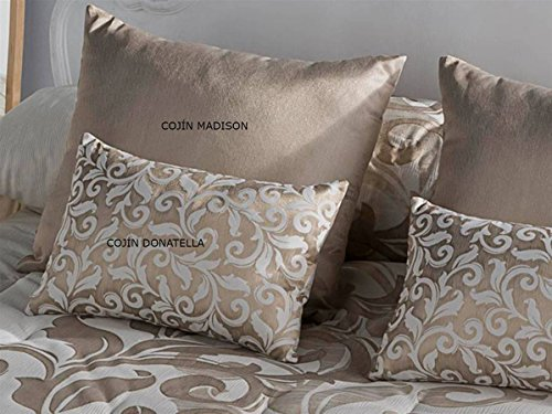 Tejidos JVR - Cojín Donatella 30x50 cm - Color Oro con Relleno