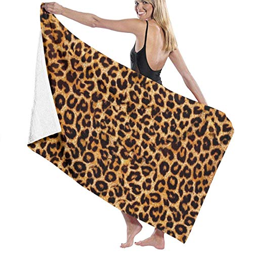 Strandtücher, Leopardenmuster, große Größe, Mikrofaser, super saugfähig, Persönlichkeit, Badetuch, Stranddecke, Handtücher, 90 x 150 cm
