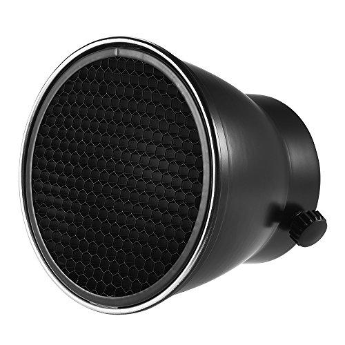 Andoer 96mm reflector difusor lámpara de horno con rejilla de panal de 60° para Godox Neewer Andoer–180W 250W 300W Estudio Strobe luz de flash Speedlite