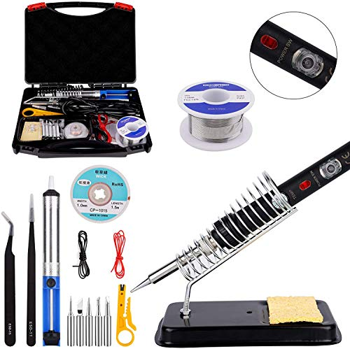 Best Prices! [Upgrade Version] Soldering Iron Kit for Repairing Electronic Tools, Ockered 18-in-1 60...