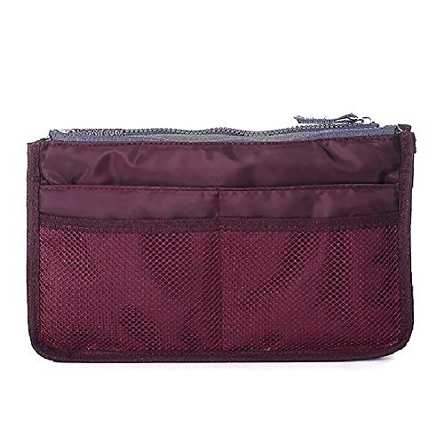 Make Up Bag Organiser for Women, Travel Packing Pouches Toiletry Bag Cosmetic Storage Organizer Compression Packing Cubes with Zipper for Travel, Office, Outdoor(Red,11.2'x7.3'x3.93')