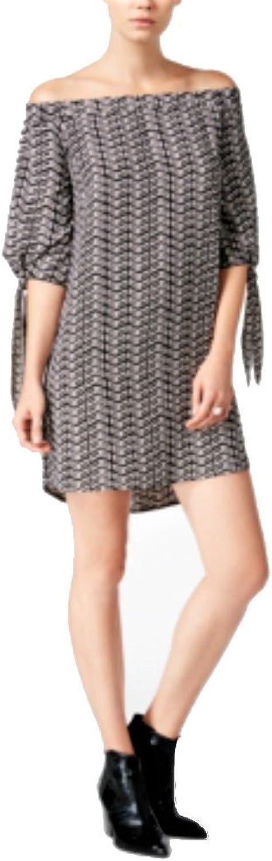 Bar III Women's Printed OffTheShoulder Dress