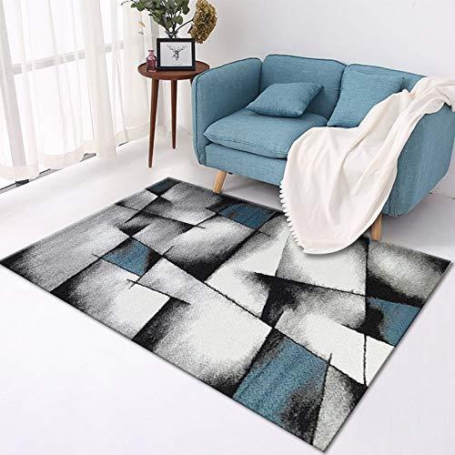 GBFR Alfombras grandes para sala de estar, abstracción geométrica, líneas negras, alfombra de mostaza, tradicional, dormitorio, estudio, exterior, comedor, baño, espacio comercial, 50 x 80 cm