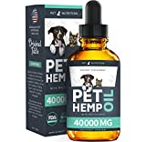 Pet Nutrition - Hemp Oil Dogs Cats - 40 000 MG - Anxiety, Pain,...