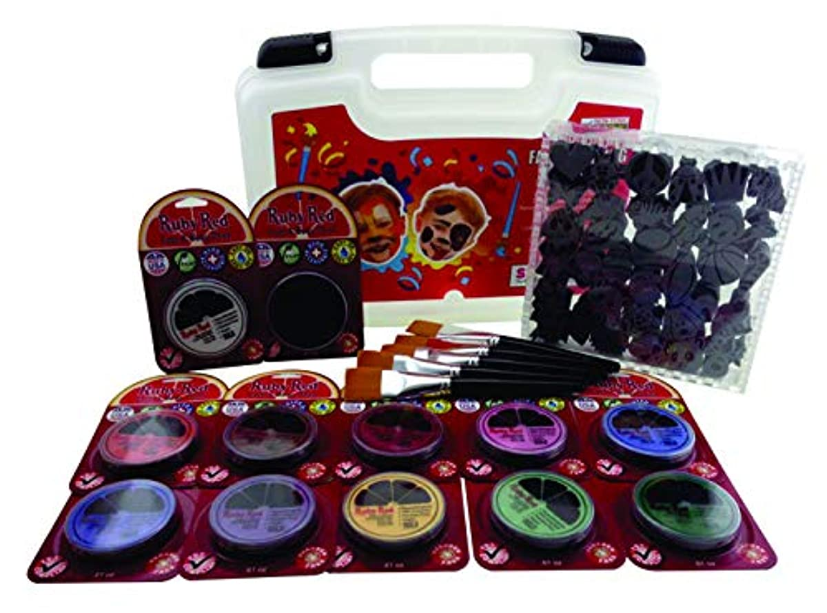 Ruby Red Paint, Inc. PROSTAMP Professional Stamp - Face Painting Kit, 14x11x3.5, Colors