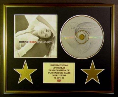 Celine Dion - Affichage CD - Édition limitée - Coa/One Heart