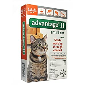 Advantage II Topical Flea Treatment for Cats 5-9 lbs. 6doses