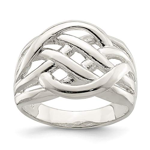 925 Sterling Silverirish Claddagh Celtic Knot Pattern Woven Band Ring Size 6.00 Fine Jewelry For Women Gifts For Her