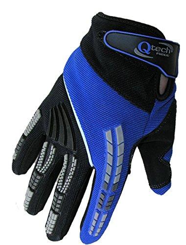 Qtech - Kinder Motocross-Handschuhe - Blau - XXXS (ca. 3-5 Jahre
