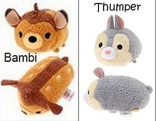 New 2pc Mini Tsum Tsum Plush Set: Bambi and Thumper 3.5