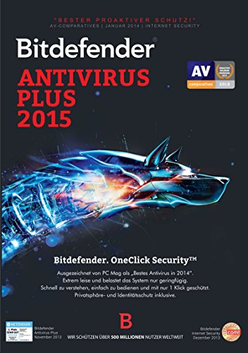 Bitdefender Antivirus Plus 2015 12 Monate / 1 User [Download]