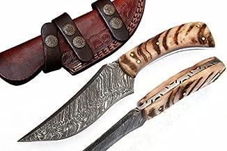 Grace Knives Handmade Damascus Steel Hunting Knife 8.5