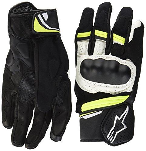 Alpinestars–Guantes Moto Booster Negro Blanco Amarillo Fluo–XXL