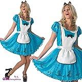 Rubie's Freches Damen-Kostüm Alice im Wunderland, Verkleidung, Kleid, Disney-Märchen