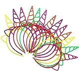 Blulu 18 Piezas de Diadema de Unicornio de Plástico Materiales de Decoración de...