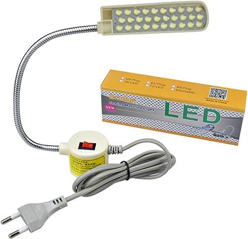 Bonlux 30 LED Bombilla Luz Fría Para Máquina de Coser de Trabajo de cuello de cisne Con Base Magnética De Montaje Par...
