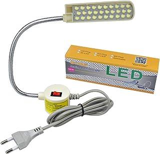 Bonlux 30 LED Bombilla Luz Fría Para Máquina de Coser de Trabajo de cuello de cisne Con Base Magnética De Montaje Para Tod...