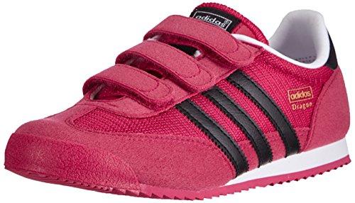 Adidas M17083, Mädchen Laufschuhe, Mehrfarbig (Bopink/Cblack/Ftwwht), Gr. 32 EU