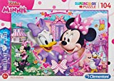 Clementoni- Puzzle 104 Piezas Efecto Diamante Minnie Happy Helper, única (20145.7)