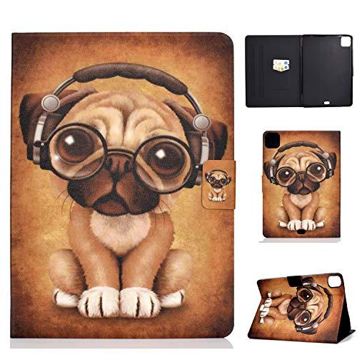 Succtop Funda iPad Pro 11 Pulgadas 2020 Dar Vuelta Billetera Inteligente Dormir/Despertar Automático Funda con Función de Soporte y Ranura Tarjeta Apple iPad Pro 2020 11 Pulgadas Perro