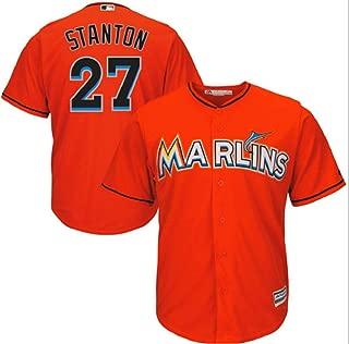 Outerstuff Giancarlo Stanton Miami Marlins MLB Majestic Youth Orange Alternate Cool Base Replica Jersey