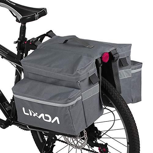 Lixada Bike Pannier Bag Waterproof Bicycle Trunk Bag Cycling Rear Rack Bag Double Luggage...
