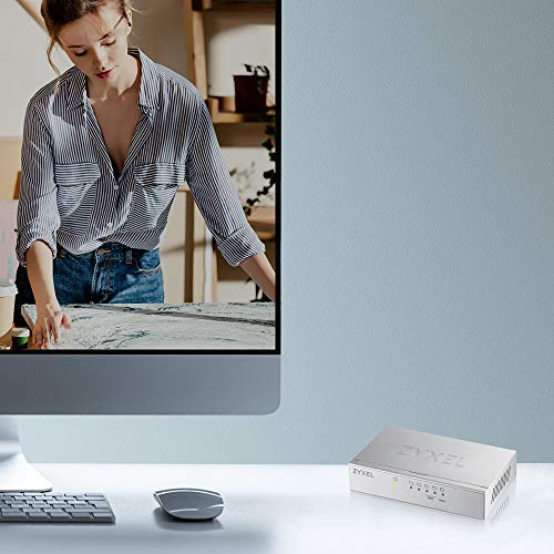 Zyxel 5-port Desktop Gigabit Ethernet Switch – Metallgehäuse, Lifetime Garantie [GS105B]