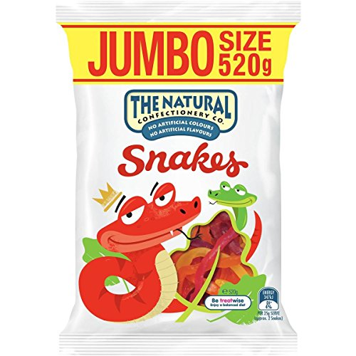 The Natural Confectionery Company Snakes, Jumbo Size, 520g