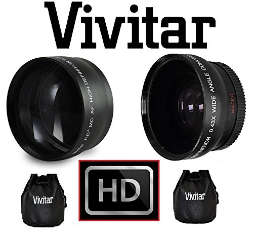 Ultra Wide Angle Conversion Lens Sony HDR-PJ670 High Grade Low Profile